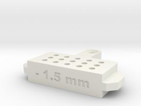 Bleed Block-1.5mm in White Natural Versatile Plastic
