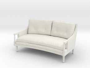 1:48 French Sofa in White Strong & Flexible