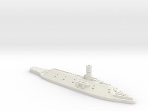 1:1200 CSS Virginia (USS Merrimack) in White Natural Versatile Plastic