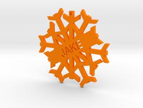 JAKE Snowflake Christmas Tree Decoration in Orange Processed Versatile Plastic