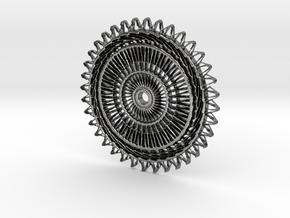 Sunburst Pendant in Fine Detail Polished Silver