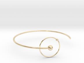 Atomic Bracelt - Hidrogen - Small  in 14k Gold Plated Brass