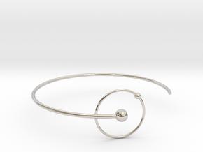 Atomic Bracelt - Hidrogen - Small  in Rhodium Plated Brass