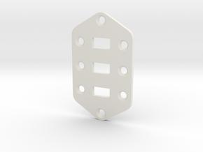 Jaguar Plate - Standard Configuration in White Natural Versatile Plastic