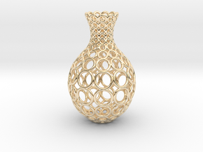 Gradient Ring Vase in 14k Gold Plated Brass