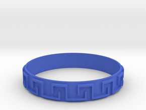 Meander in Blue Processed Versatile Plastic