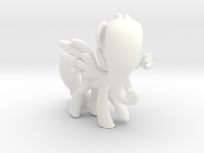 Fluttershy 1 Full Color - M1 in White Processed Versatile Plastic