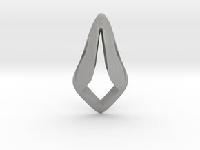Floating Free Z, Pendant. Smooth Shaped for Perfec in Aluminum