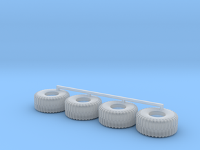 HO scale Heavy Equipment Tires in Smooth Fine Detail Plastic