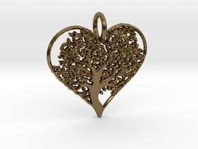 Let Your Love Grow pendant in Polished Bronze