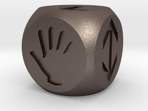 Dice for your invented games in Polished Bronzed Silver Steel