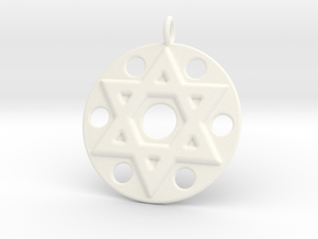 Star Of David in White Processed Versatile Plastic