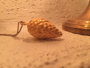 Pine Cone (matsukasa) Pendant in Polished Gold Steel