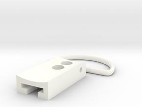 Kobold D Ring in White Processed Versatile Plastic