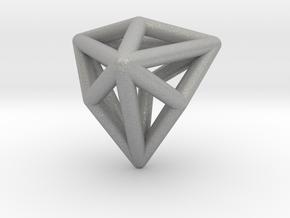 0337 Triakis Tetrahedron E (a=1cm) #001 in Aluminum