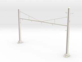 PRR CATENARY HO SCALE 4TRK CURVED STEADY in White Natural Versatile Plastic