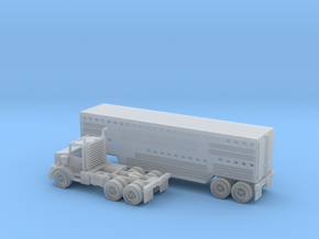Slaughter Trailer W Semi Z Scale in Smooth Fine Detail Plastic