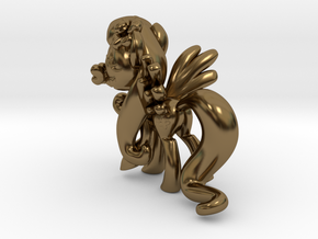 Fluttershy 1 Full Color - S1 in Polished Bronze