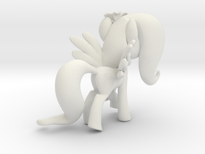 Fluttershy 1 Full Color - L2 in White Natural Versatile Plastic
