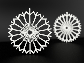 Dandelion Earrings in White Processed Versatile Plastic