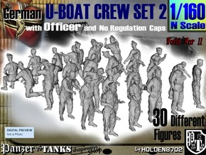 1-160 German U-Boot Crew Set2 in Smooth Fine Detail Plastic
