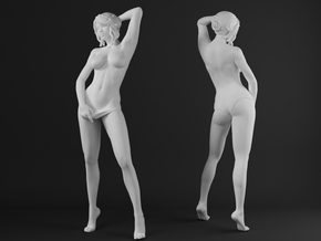 Panties girl 004 scale 1/20 Passed in White Strong & Flexible Polished