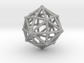 0398 Disdyakis Dodecahedron V&E (a=1cm) #002 in Aluminum