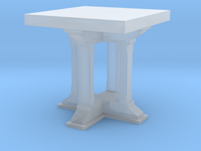 1:24 Side Table in Smooth Fine Detail Plastic