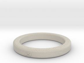 Heart Ring Size 7 in Natural Sandstone