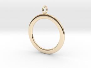 Ring-shaped pendant — smooth in 14K Yellow Gold