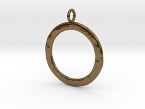 Ring-shaped pendant — rough in Polished Bronze
