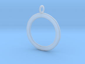 Ring-shaped pendant — rough in Smooth Fine Detail Plastic