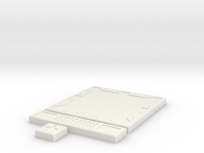 SciFi Tile 01 - Default in White Natural Versatile Plastic