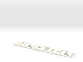 SINISTER in White Processed Versatile Plastic