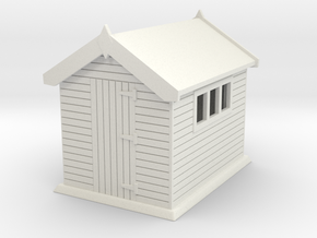 Garden shed 01. HO Scale (1:87) in White Strong & Flexible