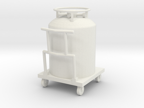 Cryogenic Gas Cylinder Accessory in White Natural Versatile Plastic: 1:32