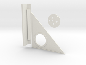 Triangle and compass With Leveler in White Natural Versatile Plastic