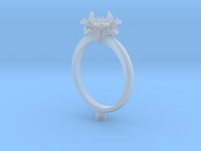 CC162 - Engagement Ring Design 3D Printed Wax . in Frosted Extreme Detail