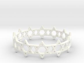 David Bracelet 73 in White Processed Versatile Plastic