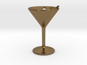 Martini Little Earring in Polished Bronze
