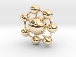 Ball Pendant in 14K Yellow Gold