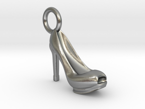 Heel Charm in Natural Silver