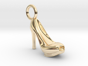 Heel Charm in 14k Gold Plated Brass