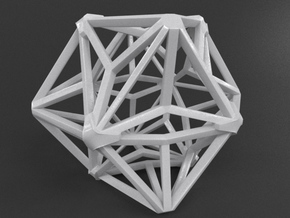 Star Cube in White Processed Versatile Plastic
