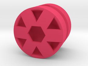 HEX_1814RS - LEGO-Compatible Custom Rims in Pink Processed Versatile Plastic