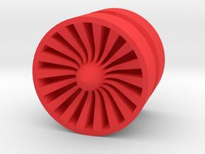 TURBINE_1814RS - LEGO-compatible Custom Rims in Red Processed Versatile Plastic