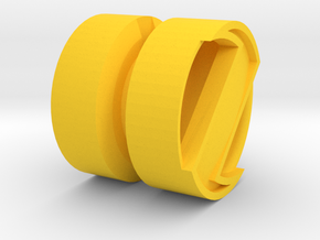 SPINNER_1814RS_RIGHT - LEGO-compatible Custom Rims in Yellow Processed Versatile Plastic