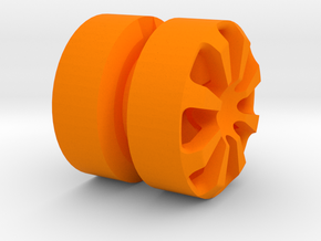 SPIDER_1814RS - LEGO-compatible Custom Rims in Orange Strong & Flexible Polished