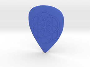 Seed of Life Guitar Pick in Blue Processed Versatile Plastic