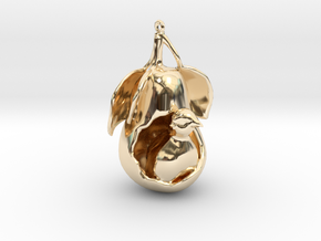 """12 Days of Christmas"" Ornament- Partridge in a Pe in 14k Gold Plated Brass"